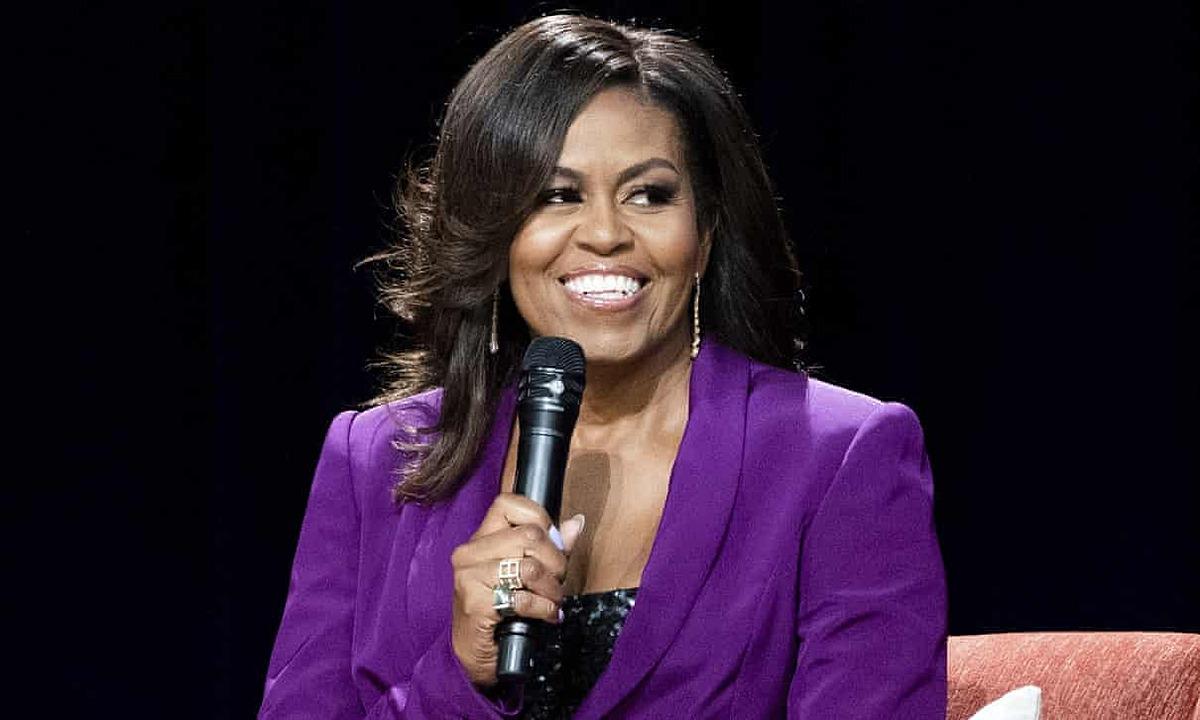 Michelle Obama trong sự kiện ở thành phố Atlanta, Mỹ tháng 5/2019. Ảnh: AP.